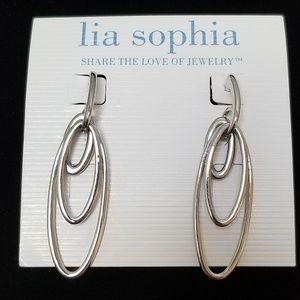 LIA SOPHIA | SILVER TONE DANGLE EARRINGS